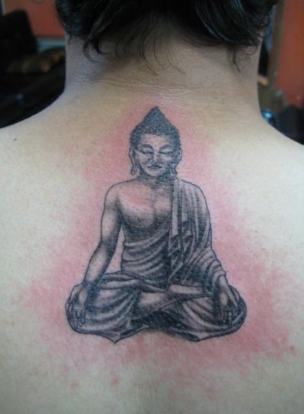 Buddha Back Religious Tattoo by Bird Tattoo