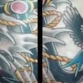 Old School Anchor Wave Bird tattoo by Bird Tattoo