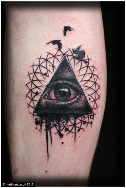Tatuaje Brazo Ojo Dios por Matt Hunt