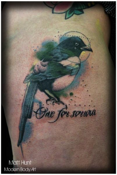 Fantasy Bird Tattoo by Matt Hunt