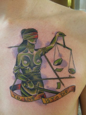 Back Justice Tattoo by Babakhin