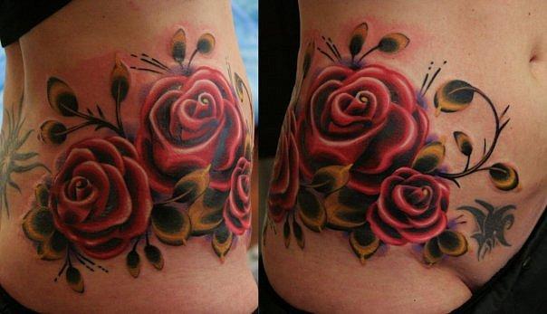 Flower Rose Tattoo by Babakhin