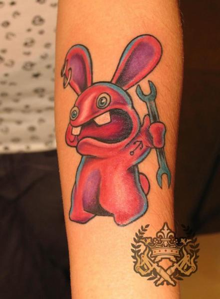 Arm Fantasy Character Rabbit Tattoo by Tattoo Empire