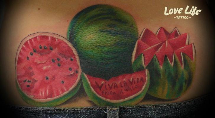 Back Watermelon Tattoo by Love Life Tattoo