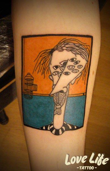 Tatuaggio Fantasy Polpaccio di Love Life Tattoo