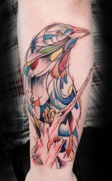 Arm Fantasie Krähen Tattoo von Style Tattoo