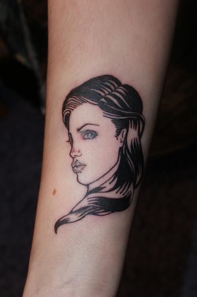 Arm Portrait Tattoo by Lacute Tattoo