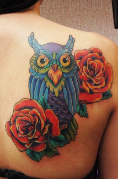Flower Back Tattoo by Baraka Tattoo