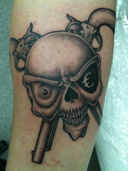 Arm Fantasy Skull Tattoo by Body Corner