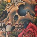 New School Flower Skull tattoo by Third Eye Tattoo