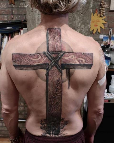 Back Crux Tattoo by Saved Tattoo