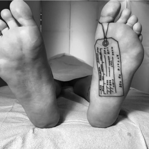 Foot Tattoo by Saved Tattoo