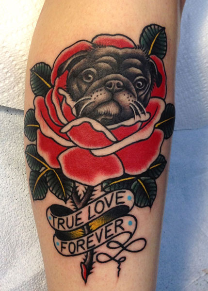 Blumen Tattoo von Saved Tattoo