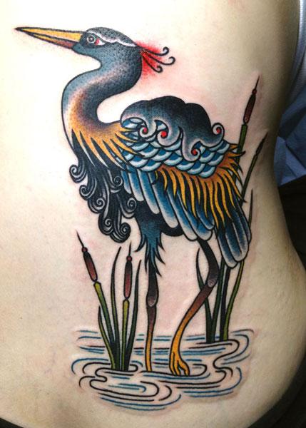 New School Side Tattoo by Saved Tattoo