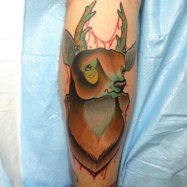 Arm Deer Tattoo by S13 Tattoo