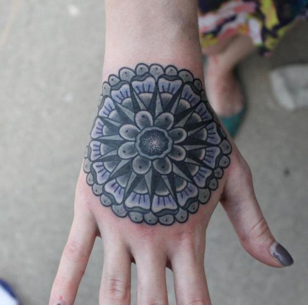 Hand Geometric Tattoo by S13 Tattoo