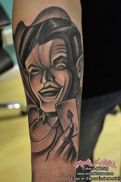 Ace Spades Men Tattoo by Rock n Roll Tattoo