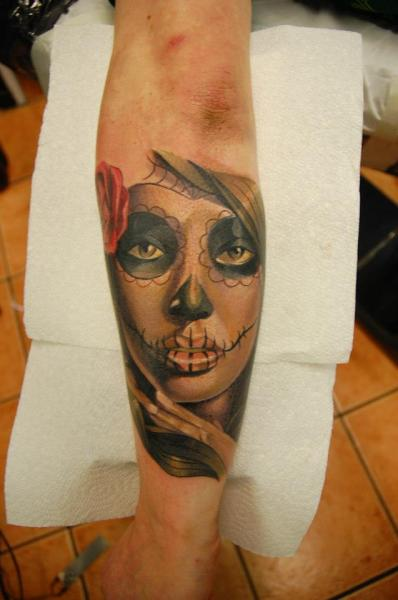 Arm Mexican Skull Tattoo by Rock n Roll Tattoo
