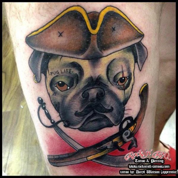 Tatuaż Old School Pies Kapelusz Przez Rock N Roll Tattoo