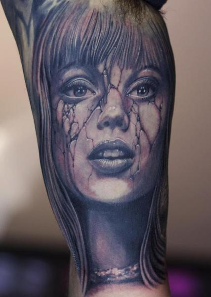 Arm Portrait Women Tattoo by Graven Image