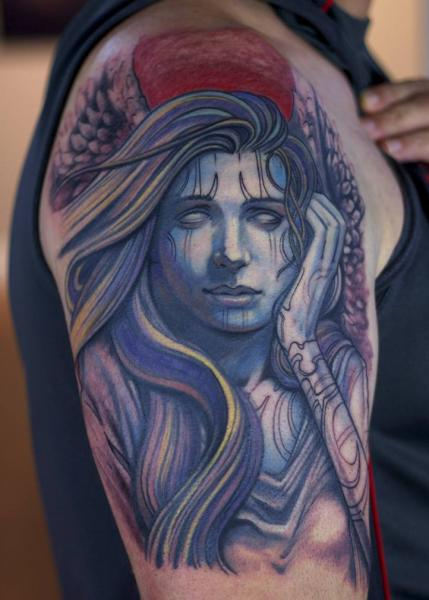 Shoulder Fantasy Tattoo by Graven Image