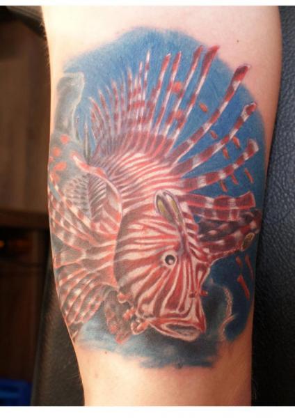 Arm Realistic Fish Tattoo by Tattoos by Mini