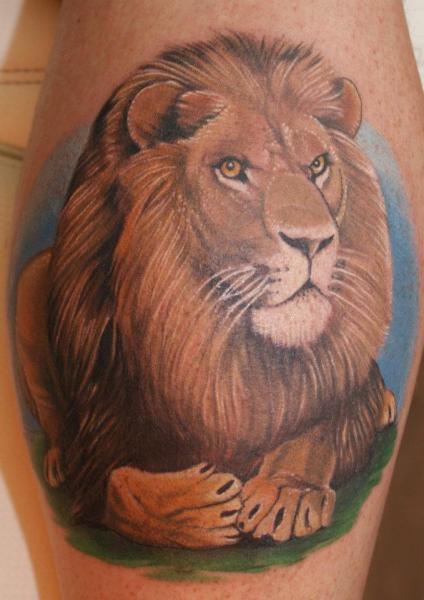 Arm Realistic Lion Tattoo by Tattoos by Mini