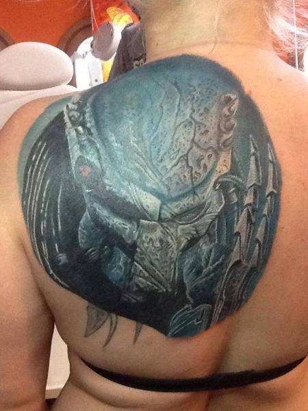 Fantasy Back Alien Tattoo by Tattoos by Mini