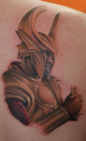 Fantasy Back Warrior Tattoo by Tattoos by Mini