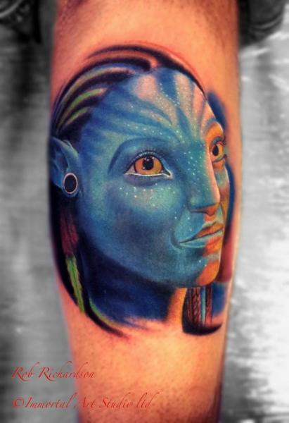 Arm Fantasy Avatar Tattoo by Rob Richardson