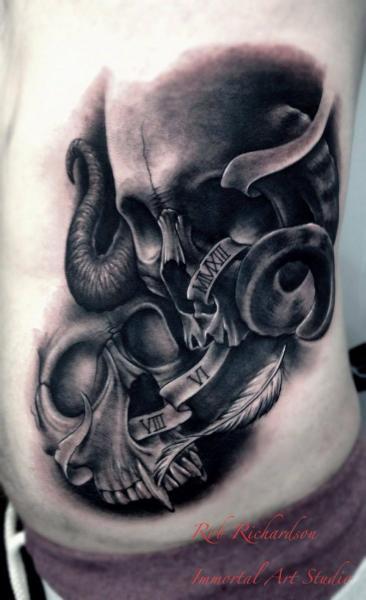 Seite Totenkopf Tattoo von Rob Richardson