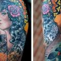 Shoulder Gypsy tattoo by Colin Jones