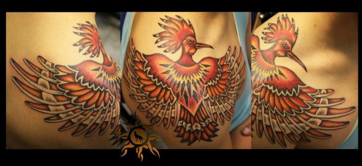 Shoulder Fantasy Phoenix Tattoo by Ramas Tattoo