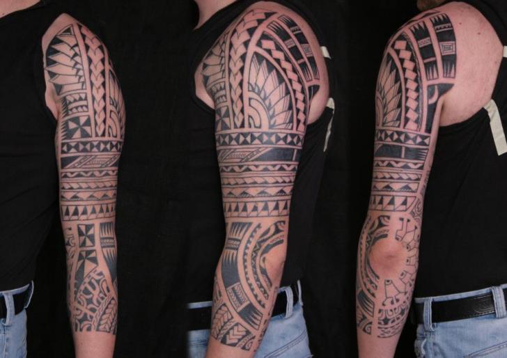 Arm Tribal Tattoo by C-Jay Tattoo