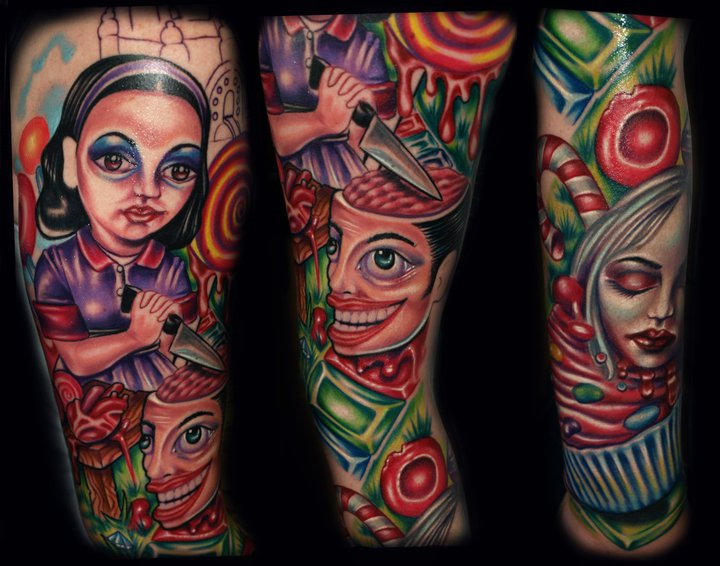 Arm Fantasy Tattoo by Tattoo by Roman