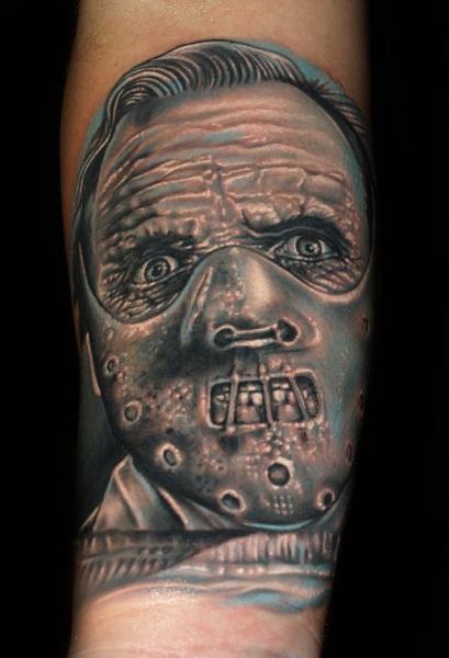 Arm Porträt Hannibal Tattoo von Tattoo by Roman