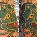 Arm Japanese Demon tattoo by Spilled Ink Tattoo