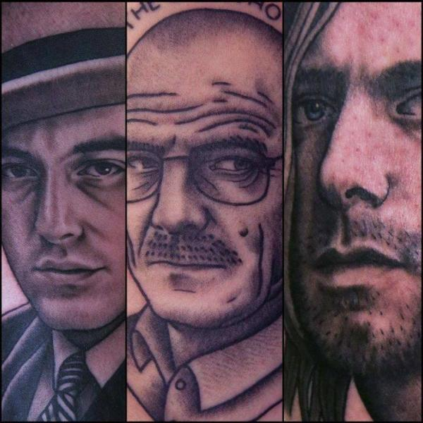 Tatuaje Retrato Realista por Spilled Ink Tattoo