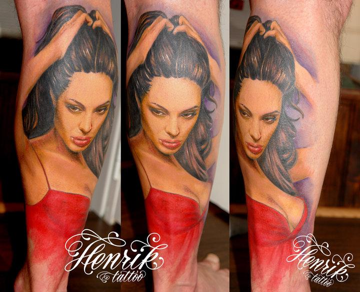 Arm Porträt Realistische Tattoo von Henrik Tattoo