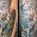 Waden Old School Adler tattoo von Mitch Allenden