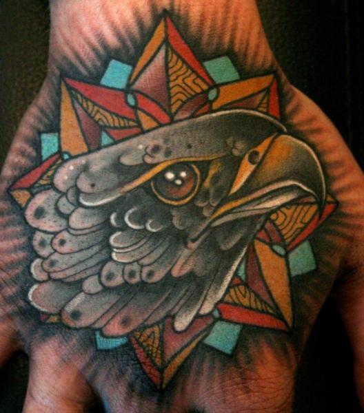 New School Hand Eagle Tattoo by Mitch Allenden