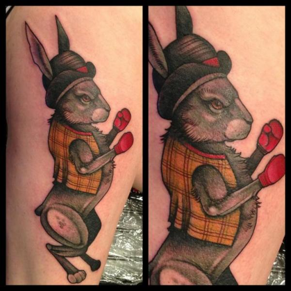 Fantasie Bein Hase Box Tattoo von Mitch Allenden