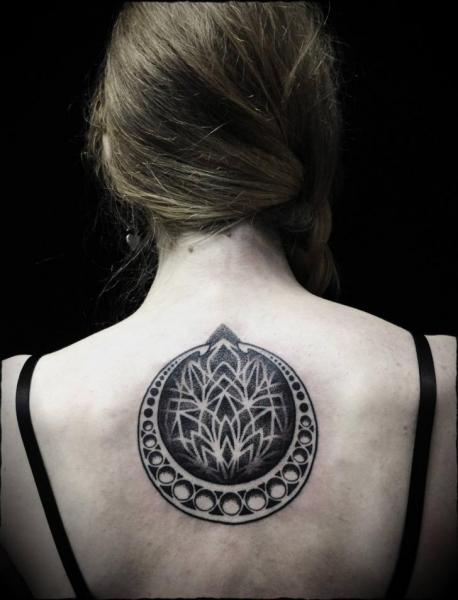 Back Dotwork Tattoo by Ivan Hack