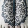 Foot Dotwork tattoo by Ivan Hack