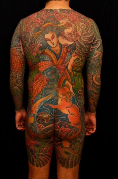 Japanese Back Butt Body Tattoo by The Sailors Grave