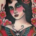 Old School Women Back Moth tattoo by The Sailors Grave