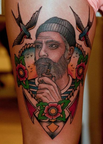 Old School Seefahrer Tattoo von The Sailors Grave