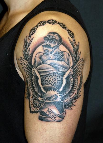 Shoulder Old School Eagle Tattoo by The Sailors Grave