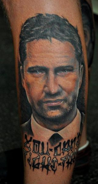 Arm Portrait Realistic Tattoo by Benjamin Laukis