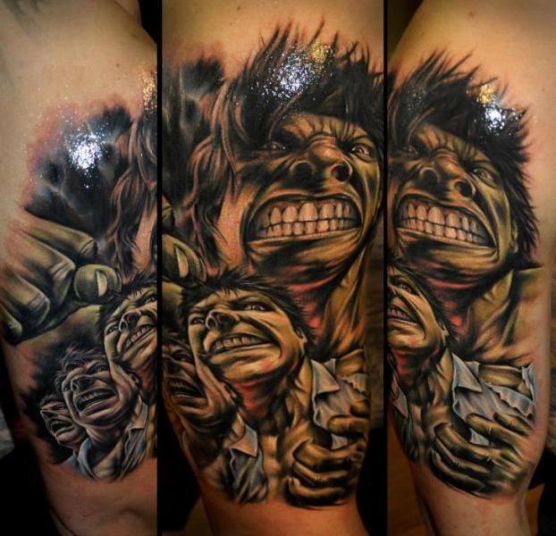 Fantasy Hulk Tattoo by Benjamin Laukis